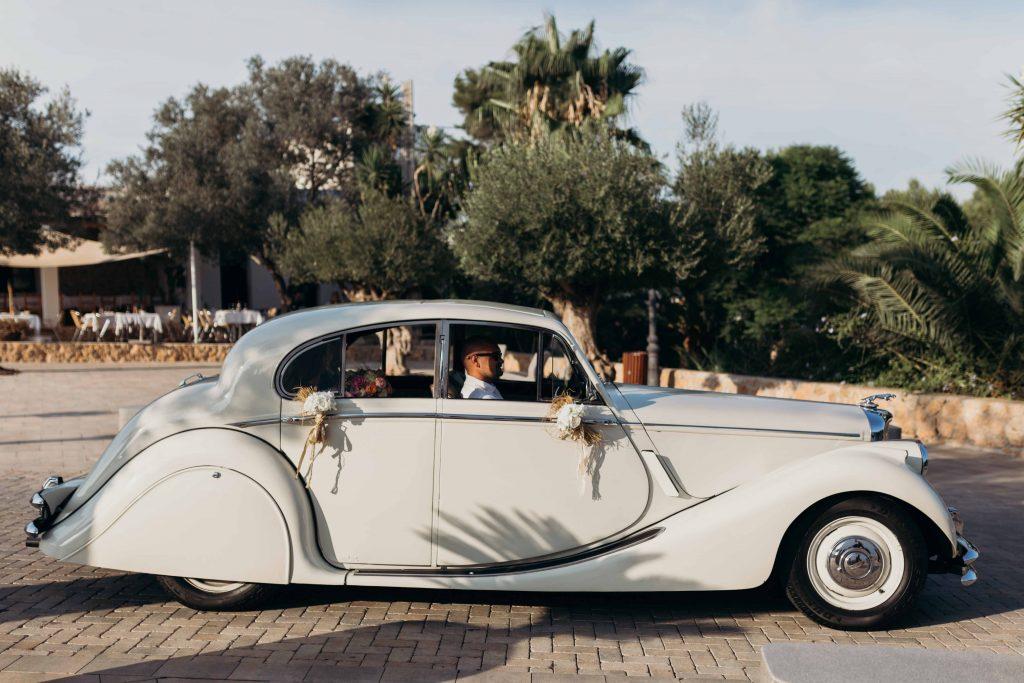 coche nupcial boda